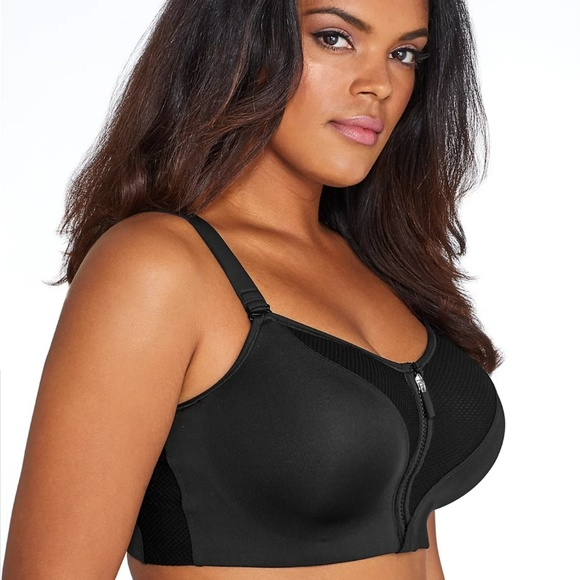 dab1911f420 Curvy Couture Zip Fit Underwire Sports Bra